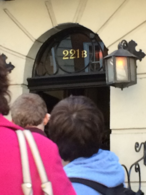 We did a quick drive by to say hi to Sherlock.  Of course, 221B didn't exist on the road until a few years ago.