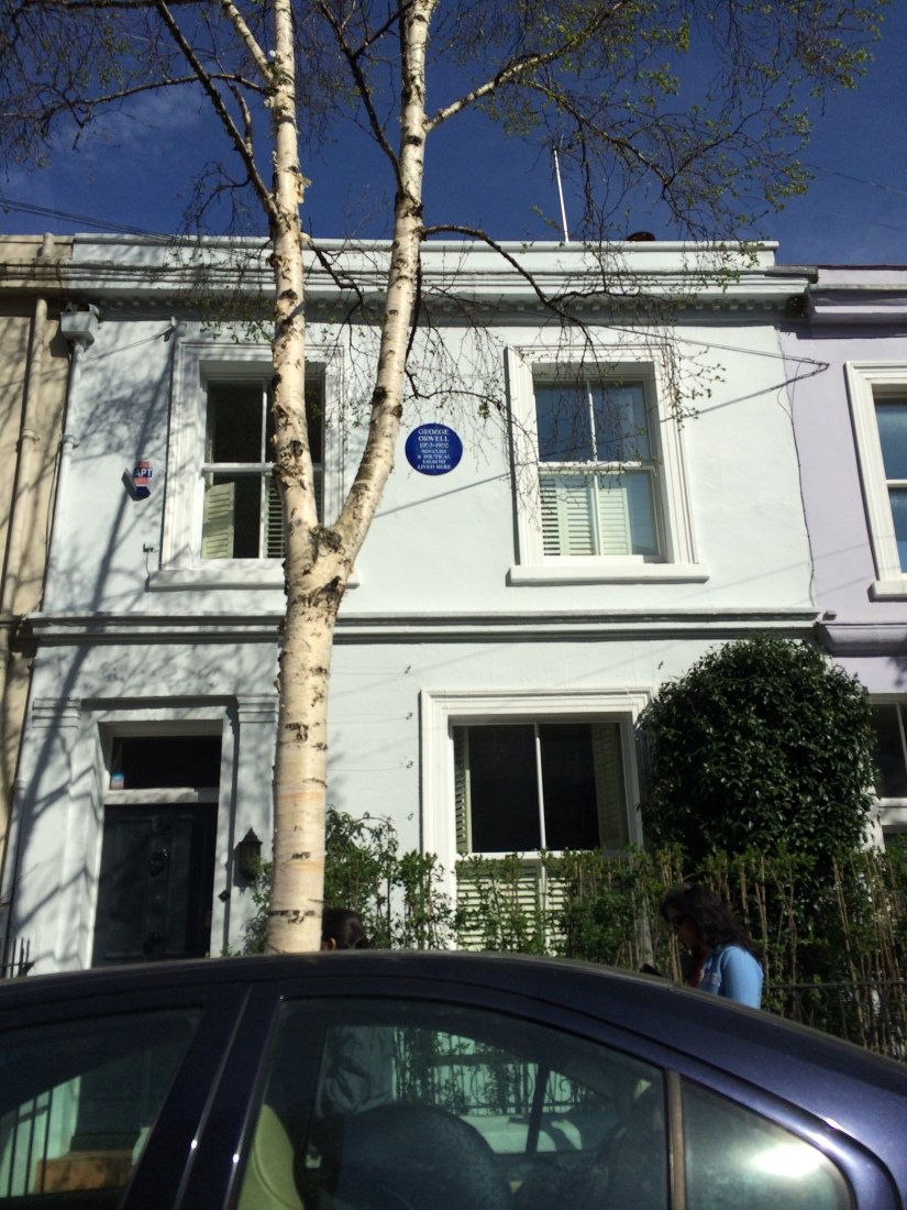G Orwell lived here 1