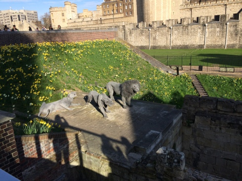 There used to be animals at the Tower of London.  So they made replicas.