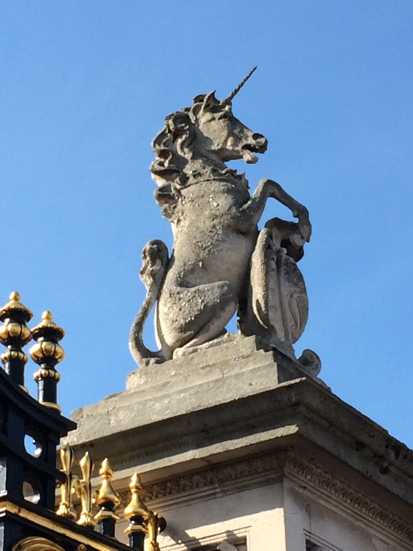 The many unicorns of London.  This one happens to be where the Queen lives.