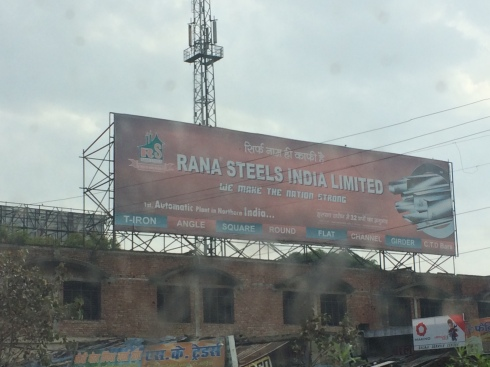 There was so much construction happening in Northeast India that B2B advertising was prevalent.