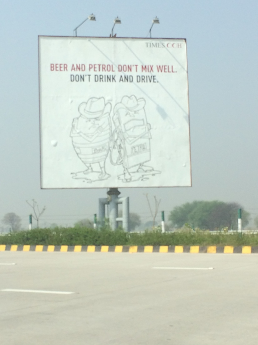 There were so many great ads about the problems with drinking and driving on the highways.  This was one of the better shots we could get.  The image is thinly drawn, which is never a best practice when designing a billboard.